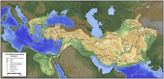 peta kekaisaran alexander